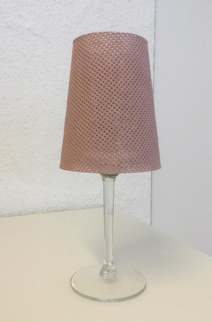 LAMPSHADE PERFORATED SMALL QUARZO ROSA