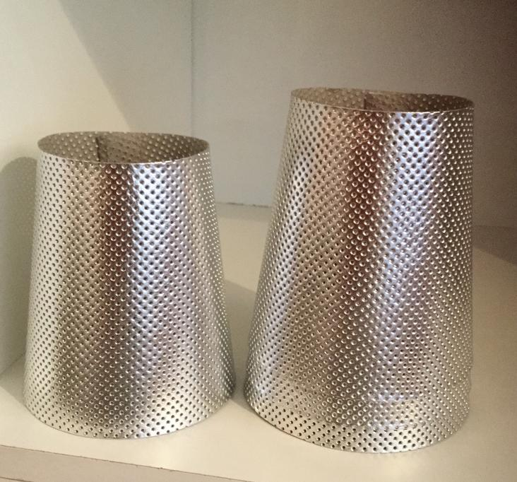 LAMPSHADE PERFORATED SMALL SILVER