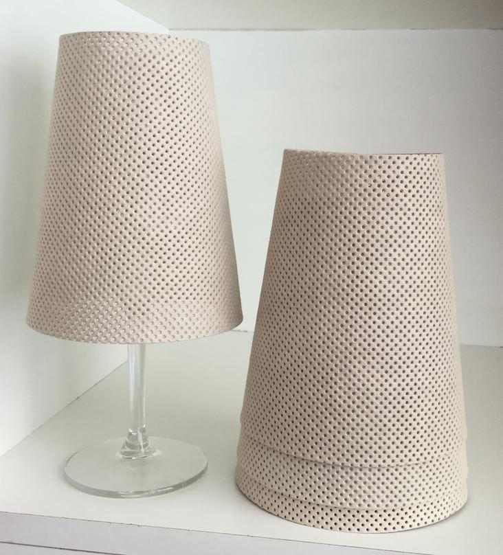 LAMPSHADE PERFORATED CASHMERE