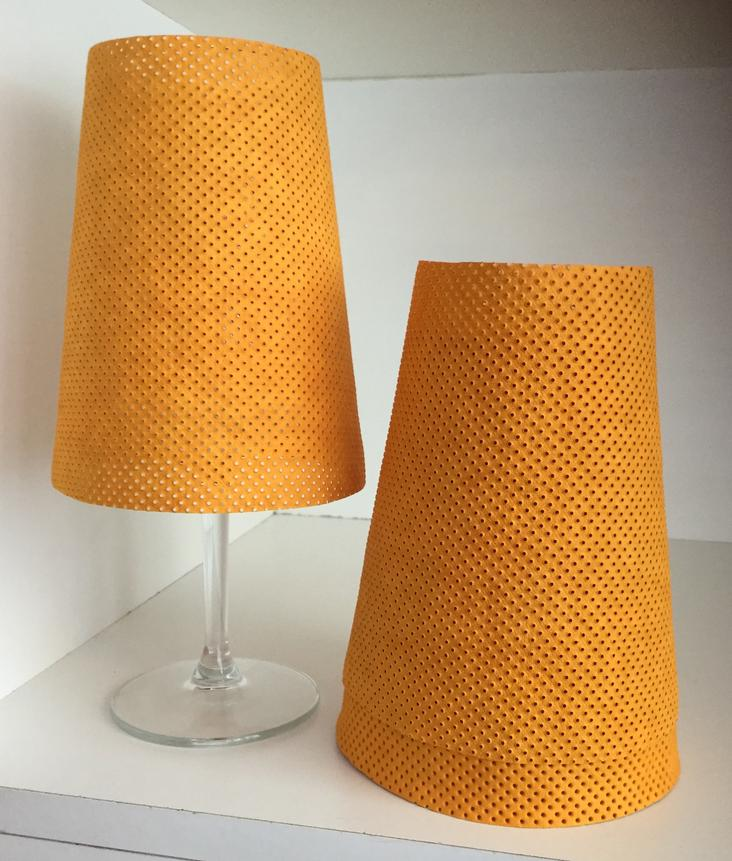 LAMPSHADE PERFORATED SENAPE