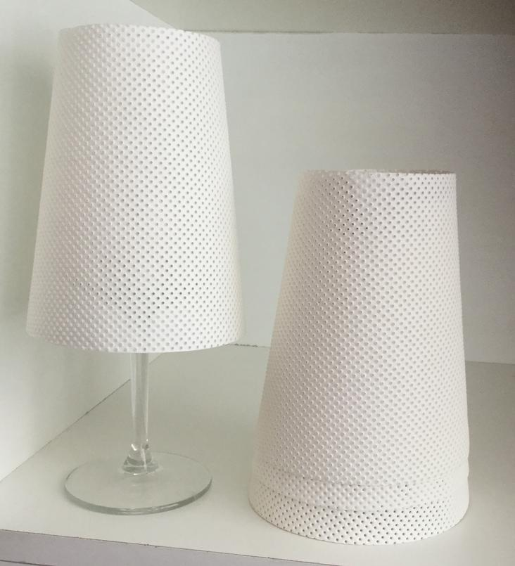 LAMPSHADE PERFORATED WHITE