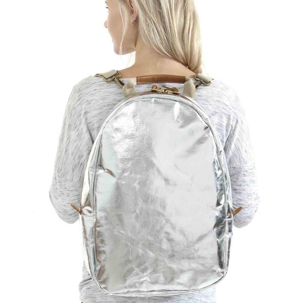 MEMMO BACKPACK METALLIC SILVER