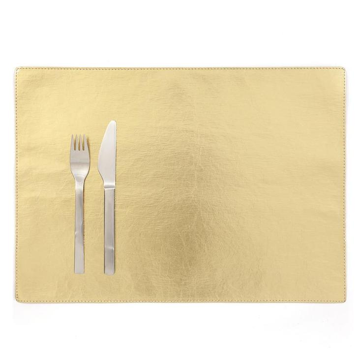PLACEMAT METALLIC GOLD