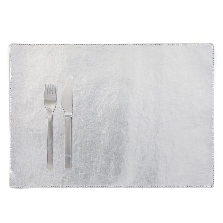 PLACEMAT METALLIC SILVER