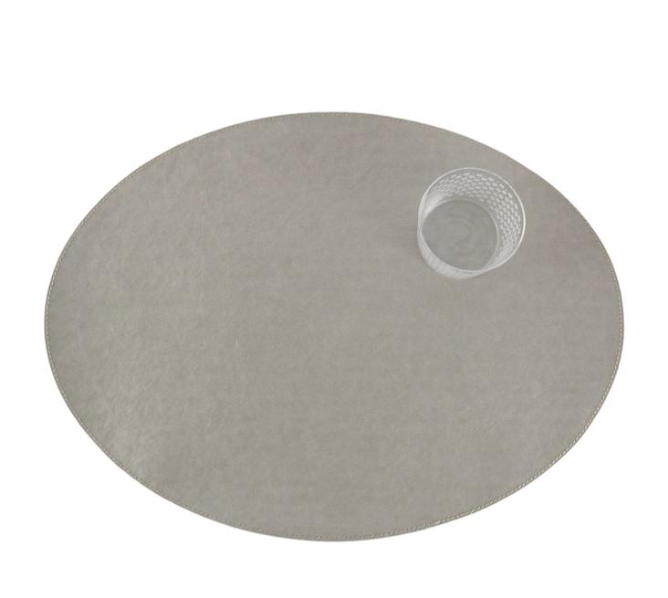 PLACEMAT OVAL TEC GREY