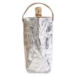 WINE BAG METALLIC SILVER - 1