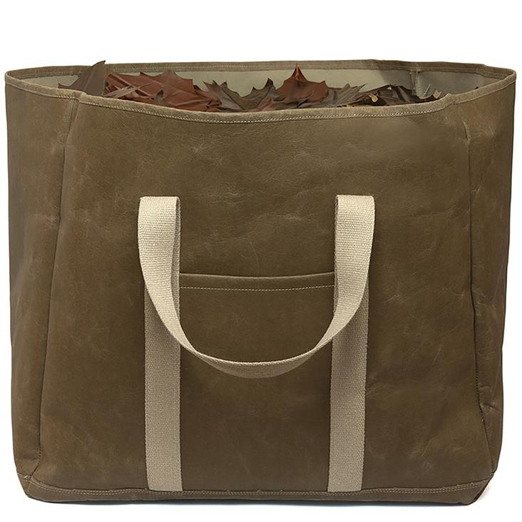 WOOD BAG LARGE OLIVA